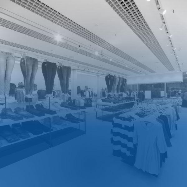 Retail clothing store sales display