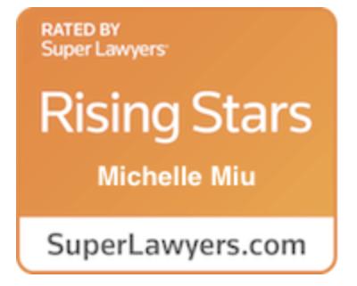 SuperLawyers Rising Star badge