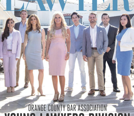 Cover of the July 2018 issue of Orange County Lawyer Magazine